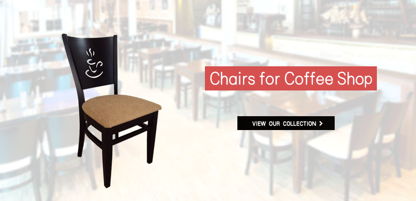 Cafeteria chairs for professional use from 15 €   Coffee shop wooden chairs
