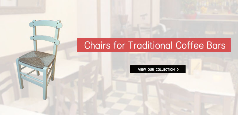 Traditional coffee shop chairs from 12 € | Traditional wooden chairs for professional use