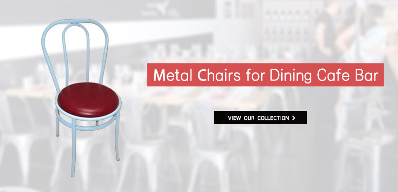 Professional metal chairs - tables for restaurant, tavern, cafe.