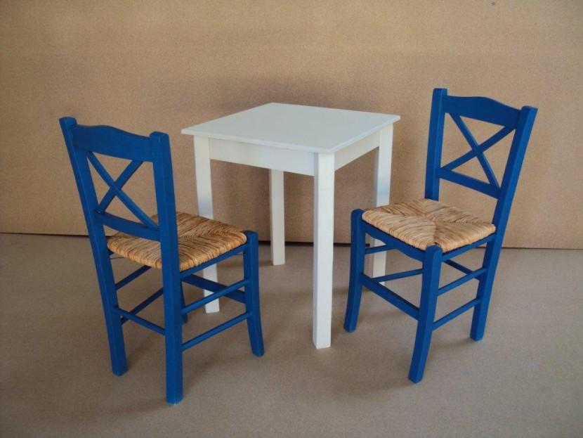 Επαγγελματικό Τραπέζι Ξύλινο Παραδοσιακό (60Χ60) Καφενείου Εστιατορίου Ταβέρνας Καφετέριας Cafe Bar από 48€ .