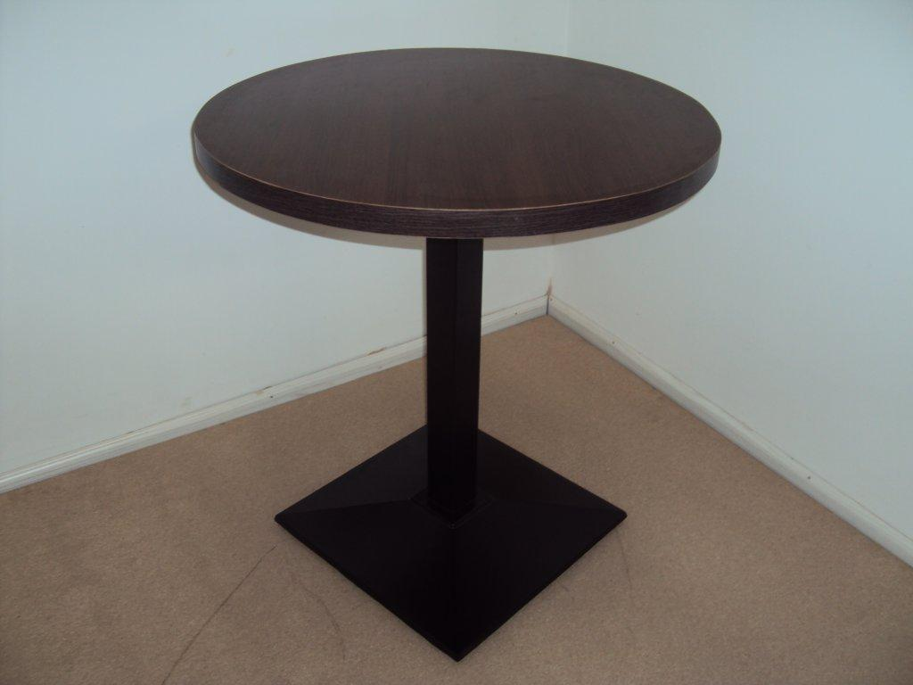 Wooden Table With Cast Iron Base And Walnut Glaze From 105