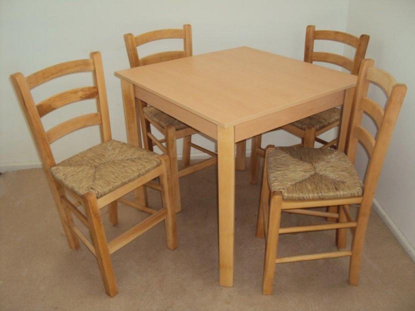 Επαγγελματικό Τραπέζι Ξύλινο Παραδοσιακό Καφενείου Εστιατορίου Ταβέρνας Ουζερί Καφετέριας Cafe Bar από 55€ (size 80Χ80)