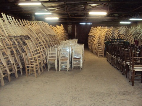 Ready for delivery chairs at Zampoukas Furniture Factory