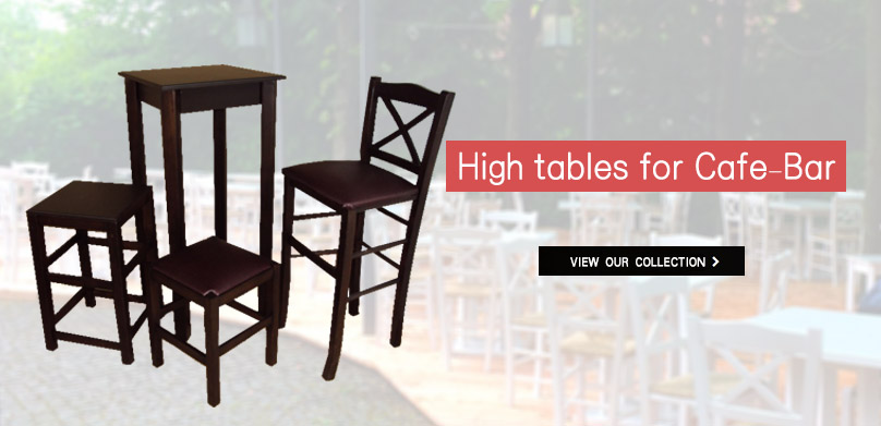 Zampoukas - High tables - Stands for Cafe-Bar