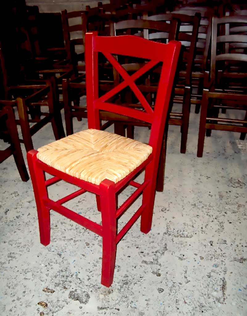 Επαγγελματική Ξύλινη Παραδοσιακή Καρέκλα Χίος από 19,5€ , Καρέκλα Καφενείου, Ταβέρνας, Εστιατορίου, Καφετέριας, Cafe Bar, (size 42x38x87).