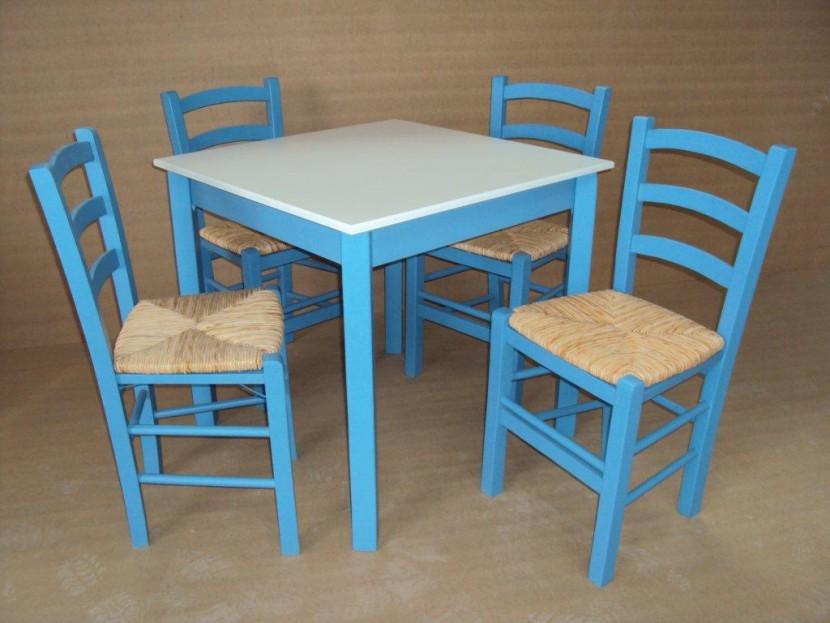 Επαγγελματικό Τραπέζι Ξύλινο Παραδοσιακό (80Χ80) Καφενείου Εστιατορίου Ταβέρνας Καφετέριας Cafe Bar από 55€