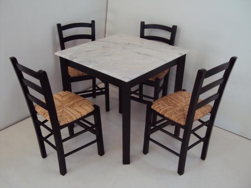 Τραπέζι Ξύλινο Παραδοσιακό Καφενείου Εστιατορίου Ταβέρνας Καφετέριας Cafe Bar (80Χ80) από 68€
