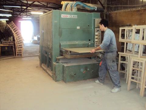 Wood cutting machine at Zampoukas Furniture Factory