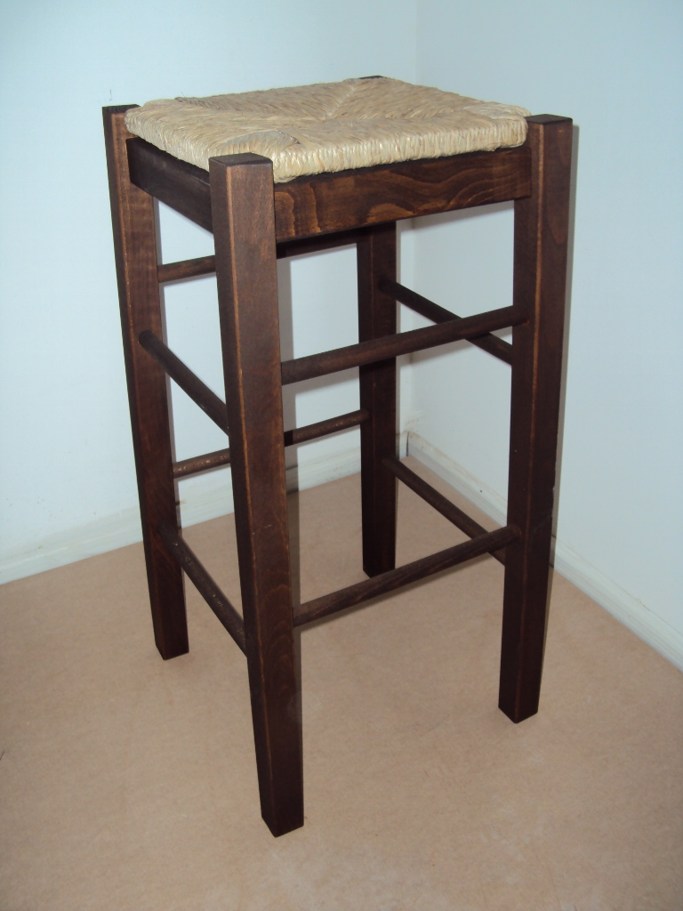 Professional Wooden Cafe Bar Stool Without Back For